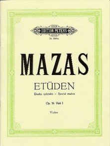 MAZAS ETUDES SPECIALES OP 36 VOL 1 VIOLON