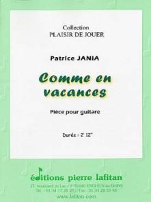 JANIA P. COMME EN VACANCES GUITARE