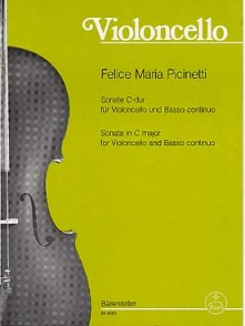 PICINETTI F.M. SONATE DO MAJEUR VIOLONCELLE