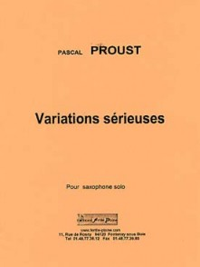 PROUST P. VARIATIONS SERIEUSES SAXOPHONE SOLO