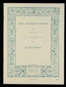 BOZZA E. RECIT, SICILIENNE ET RONDO BASSON