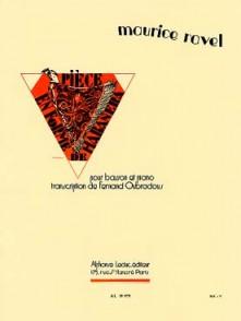 RAVEL M. PIECE EN FORME DE HABANERA BASSON