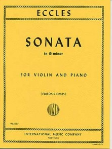 ECCLES H. SONATA G MINOR VIOLON