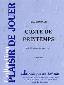 MEREAUX M. CONTE DE PRINTEMPS FLUTE A BEC SOPRANO