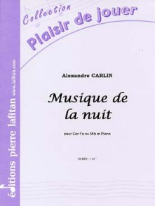 CARLIN A. MUSIQUE DE LA NUIT OR OU SAXHORN ALTO