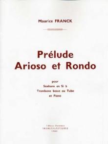 FRANCK M. PRELUDE ARIOSO ET RONDO TUBA OU SAXHORN OU TROMBONE BASSE