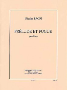 BACRI PRELUDE ET FUGUE PIANO