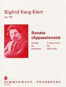KARG-ELERT S. SONATE APPASSIONATA OP 140 FLUTE