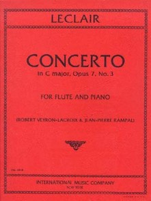 LECLAIR J.M. CONCERTO OP 7 N°3 FLUTE