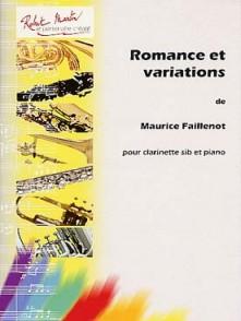 FAILLENOT M. ROMANCE ET VARIATIONS CLARINETTE