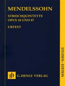 MENDELSSOHN B. STRING QUINTETS OP 18 OP 87 SCORE