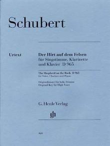 SCHUBERT F. LE PATRE SUR LA MONTAGNE OP 129 CHANT CLARINETTE PIANO