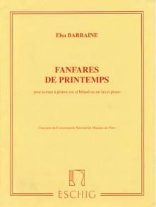 BARRAINE E. FANFARES DE PRINTEMPS CORNET