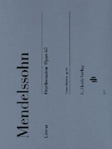 MENDELSSOHN F. SONATES OP 65 ORGUE