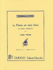 VIERNE L. 24 PIECES EN STYLE LIBRE VOL 1 ORGUE