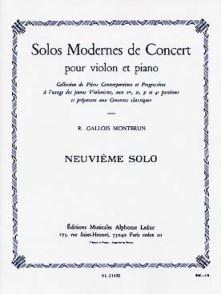 GALLOIS-MONTBRUN R. 9ME SOLO DE CONCERT VIOLON