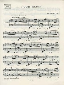 BEETHOVEN L. LETTRE A ELISE PIANO