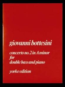 BOTTESINI G. CONCERTO SI MINEUR CONTREBASSE