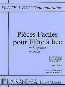 PIECES FACILES VOL 1 FLUTE A BEC