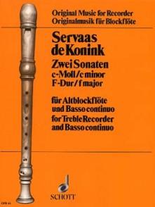 VAN KONINK S. SONATES FLUTE A BEC