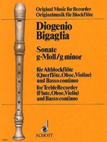 BIGAGLIA D. SONATE SOL MINEUR FLUTE A BEC