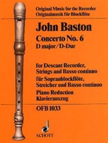 BASTON J. CONCERTO N°6 FLUTE A BEC