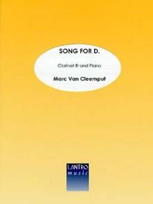 VAN CLEEMPUT M. SONG FOR D. CLARINETTE