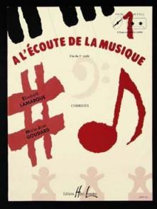 LAMARQUE E./GOUDARD M.J. A L'ECOUTE DE LA MUSIQUE CYCLE 1 PROF