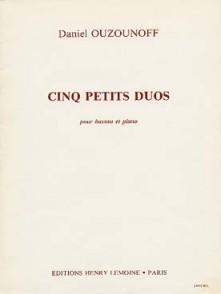 OUZOUNOFF D. PETITS DUOS BASSONS