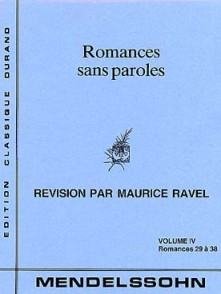 MENDELSSOHN F. ROMANCES SANS PAROLES VOL 4 PIANO