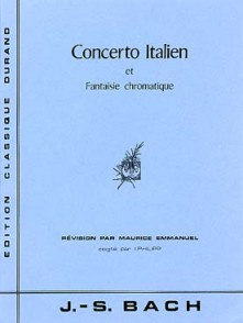 BACH J.S. CONCERTO ITALIEN BWV 971 ET FANTAISE PIANO