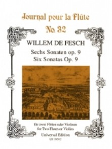 DE FESCH W. SONATAS OP 9 FLUTES