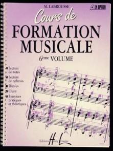 LABROUSSE M. COURS DE FORMATION MUSICALE 6ME ANNEE