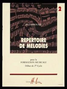 LABROUSSE M. REPERTOIRE DE MELODIES VOL 2