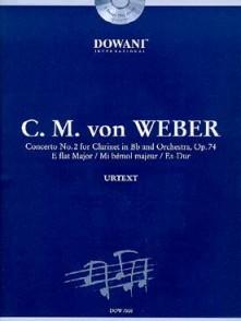 WEBER C.M. CONCERTO N°2 OP 74 CLARINETTE