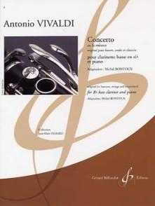 VIVALDI A. CONCERTO LA MINEUR CLARINETTE BASSE