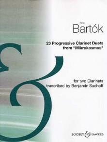 BARTOK PROGRESSIVE CLARINET DUOS FROM MIKROKOSMOS