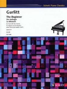 GURLITT C. THE BEGINNER PIANO 4 MAINS