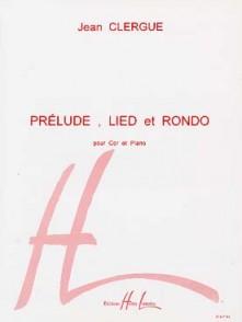 CLERGUE J. PRELUDE LIED RONDO COR