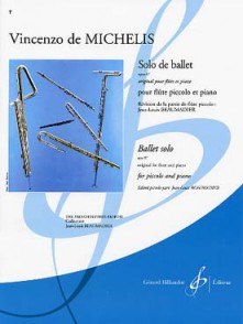 MICHELIS (DE) V. SOLO DE BALLET FLUTE PICCOLO