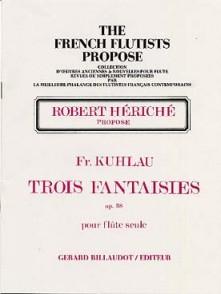 KUHLAU F. FANTAISIES OP 38 FLUTE SOLO