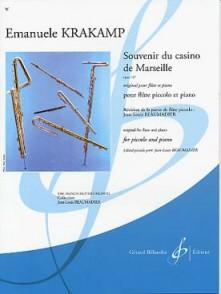 KRAKAMP E. SOUVENIR DU CASINO DE MARSEILLE OP 187 FLUTE PICCOLO