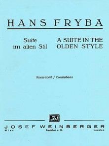 FRYBA H. A SUITE IN THE OLDEN STYLE CONTREBASSE