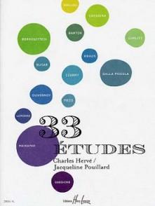 HERVE C./POUILLARD J. 33 ETUDES CHOISIES PIANO