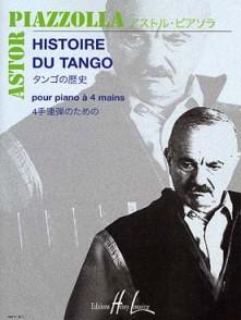 PIAZZOLLA A. HISTOIRE DU TANGO PIANO 4 MAINS