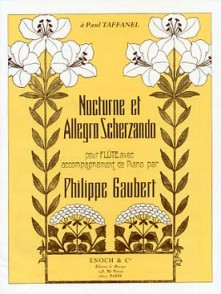 GAUBERT P. NOCTURNE ET ALLEGRO SCHERZANDO FLUTE