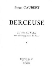 GAUBERT P. BERCEUSE FLUTE