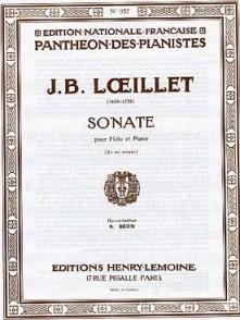LOEILLET J.B. SONATE SOL MINEUR FLUTE