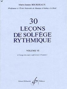BOURDEAUX M.J. 30 LECONS PROGRESSIVES DE LECTURE DE NOTES VOL 6