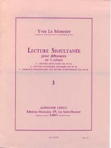 LE MONNIER Y. LECTURE SIMULTANEE VOL 3